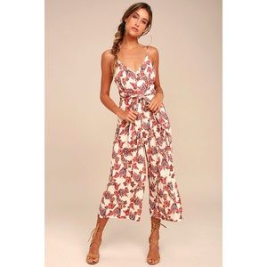 Free People Hot Tropics Jumpsuit with tie waist